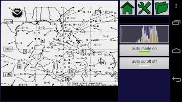 Screenshot of HF Weather Fax for marine