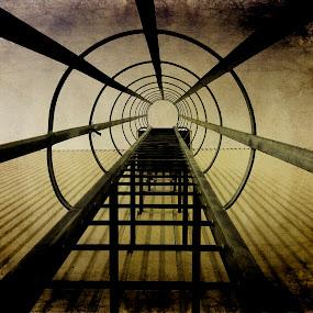 Factory Ladder by Glenn Visser - Instagram & Mobile Other ( ladder, aged artistic filter, factory, aged default )