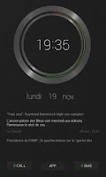 Screenshot of Black UI Clock UCCW