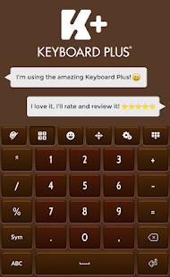 Hnědá klávesnice - náhled