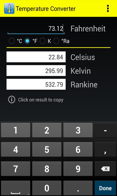 Temperature metric converter android apps on google play for 0 kelvin to celsius conversion table