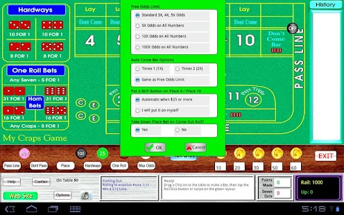 My Craps Game 1280x800 Tablet - screenshot thumbnail
