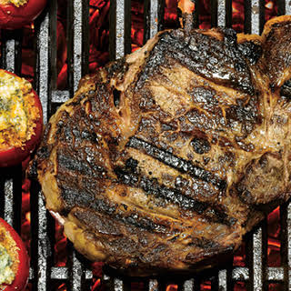 Grilled Bone-in Rib-Eye Steaks.
