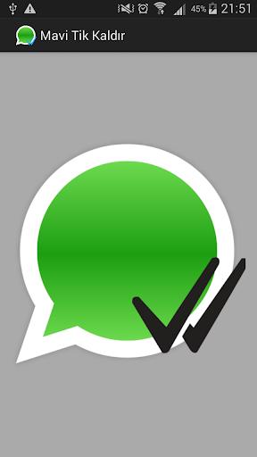 Whatsapp Mavi Tik Kapatıcı