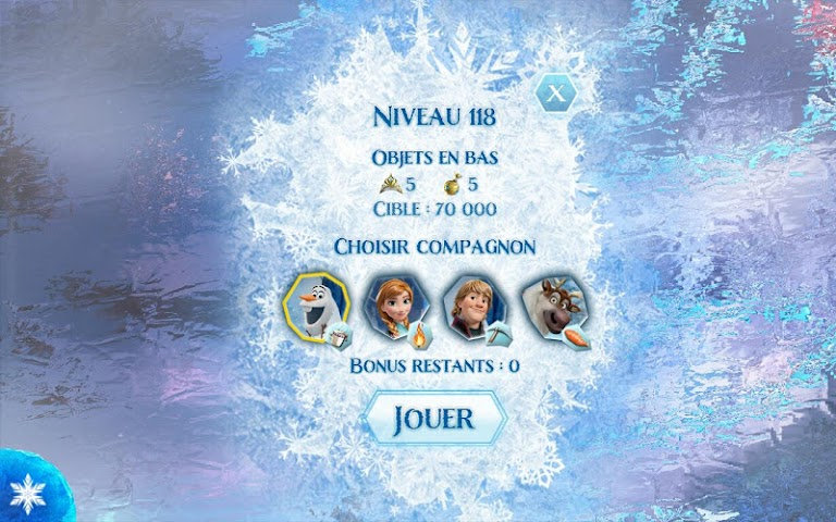 android La Reine des Neiges Free Fall Screenshot 5