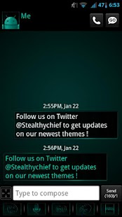 GO SMS Dark Cyan Theme- screenshot thumbnail