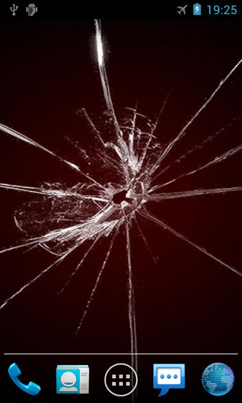 Cracked Screen Live Wallpaper- screenshot