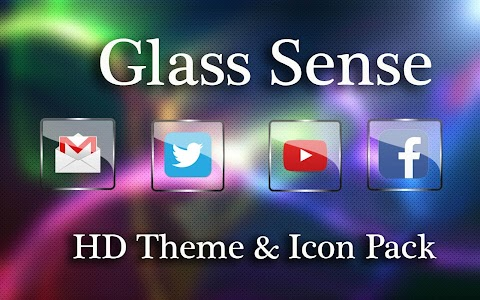 Glass  NOVA/APEX/ADW Icon Pack Change Icons 1.2.1 (Paid)