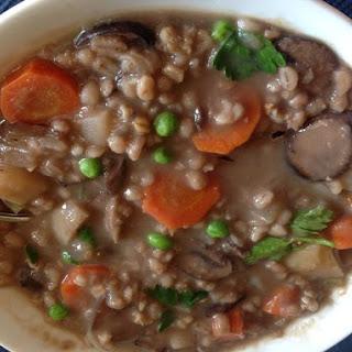 Whole Oats, Barley and Mushroom Stew