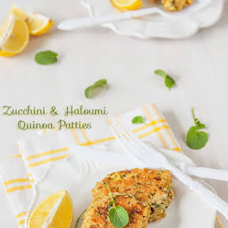 Zucchini and Haloumi Quinoa Patties.