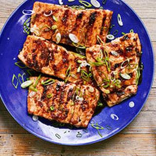 Grilled Teriyaki-Glazed Salmon.