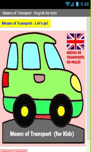 Medios transporte INGLES niños