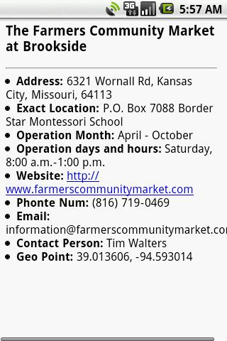 Farmers Market Finder - screenshot