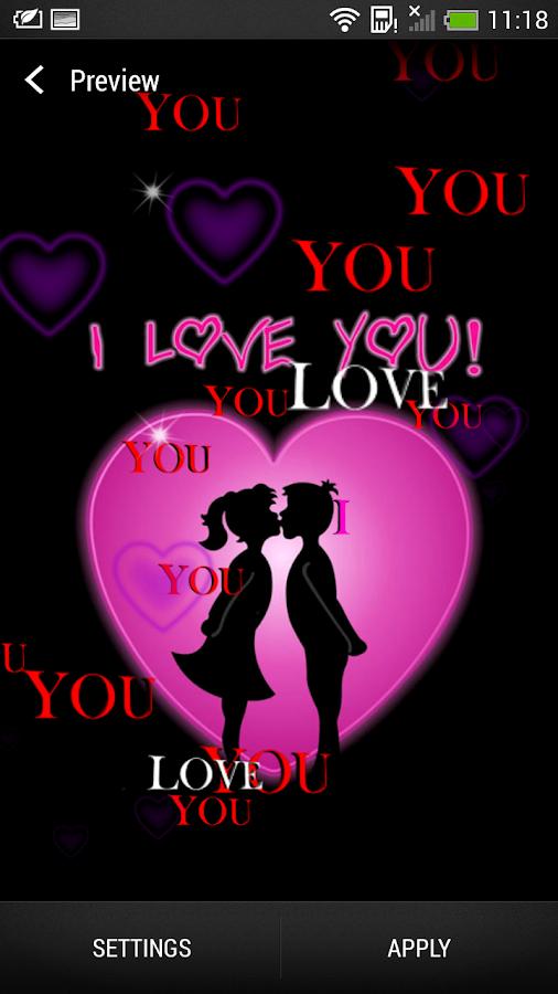 I Love You Wallpapers For Boyfriend : Jeg elsker deg Bakgrunn Android-apper pa Google Play