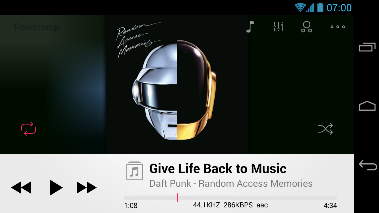 Poweramp skin OS 7 2in1 - screenshot