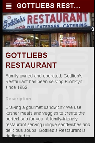 【免費商業App】GOTTLIEBS RESTAURANT-APP點子
