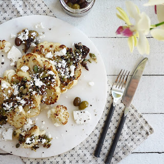 Roasted Cauliflower Steaks with Olives and Capers