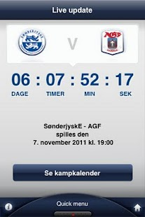 Den officielle AGF app - screenshot thumbnail