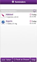 Screenshot of MedCoach Medication Reminder
