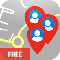 MapBook Social Friends Finder icon