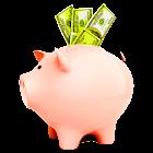 Piggy bank - I'm rich icon