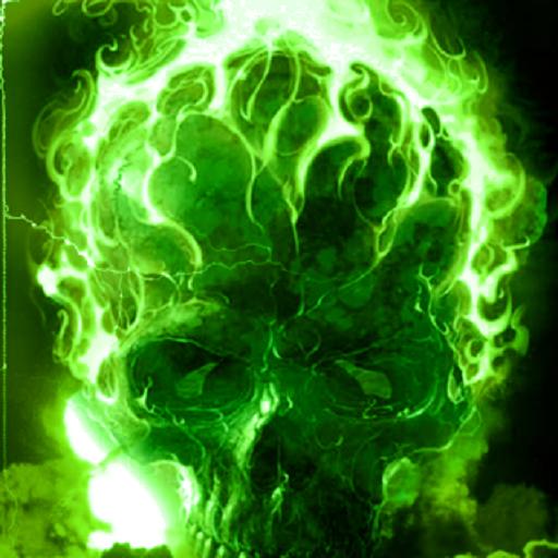Картинка с черепом зеленого огня картинка с черепом зеленого огня
