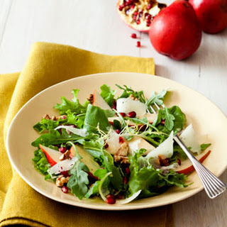 Pear and Manchego Salad with Walnut Dressing.
