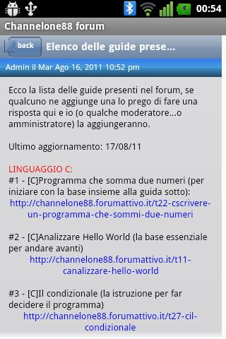 Channelone88 Forum - screenshot