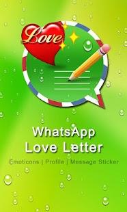 WhatsApp Love Letter