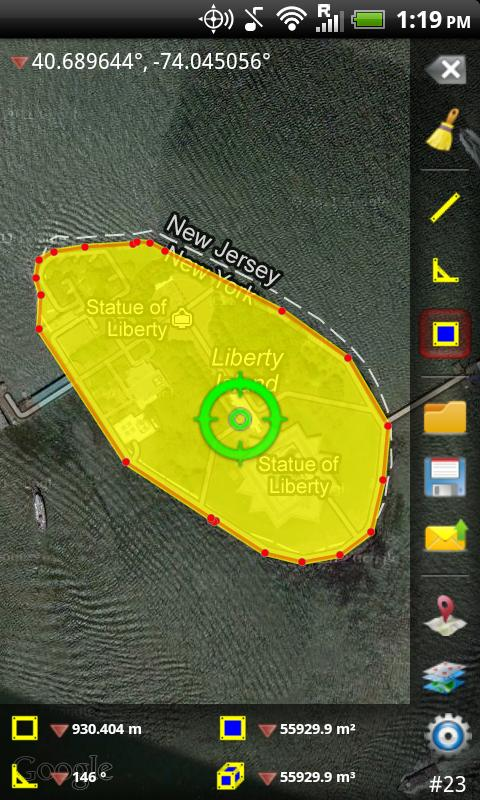 GPS Area Measure Free- screenshot
