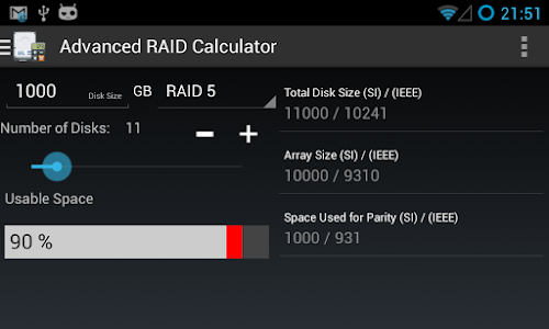 Advanced RAID Calculator screenshot 2