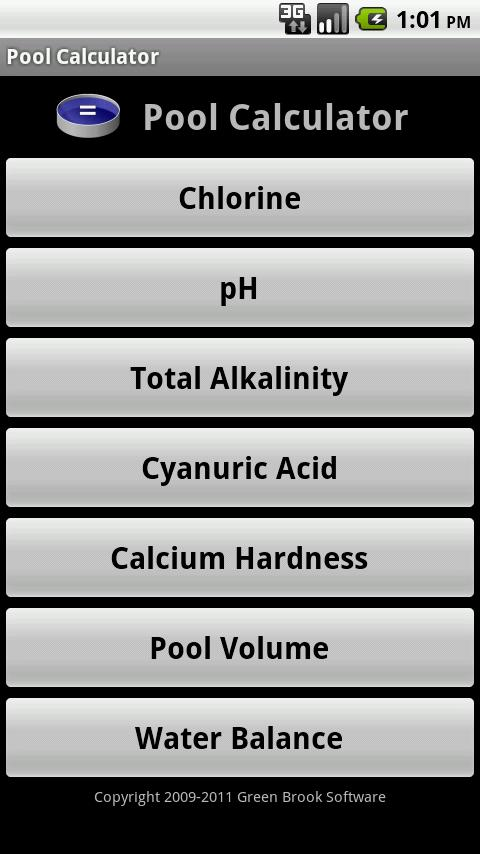 Pool calculator android apps on google play - Chlorine calculator for swimming pools ...