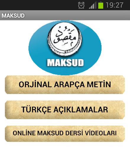 Maksud Kitabı Arapça Türkçe