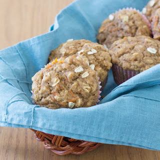 Healthy Carrot Cake Oat Muffins.