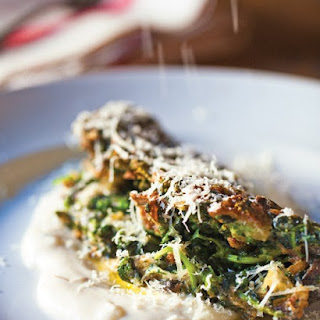 Spinach-Nettle Omelet with Onion Soubise