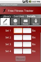 Screenshot of Free Fitness Tracker