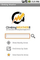 Screenshot of Climbing Weather