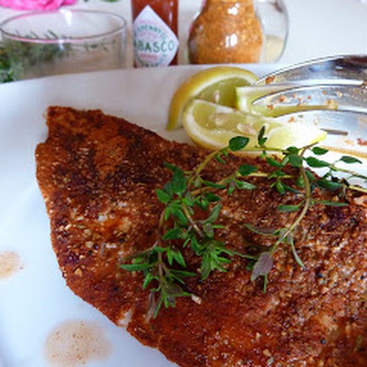 Cajun Fish with Tabasco Butter Recipe