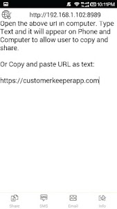 Clipboard: share text via wifi screenshot 2