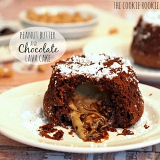 Chocolate Peanut Butter Lava Cakes