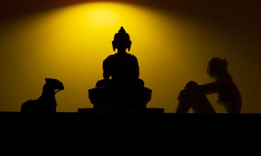 Budhaa Silhouette by Pankaj Kumar - Artistic Objects Still Life ( budha, silhouette )