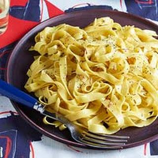 Really Buttery Saffron Tagliatelle.