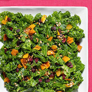 Kale Salad with Chutney Dressing.