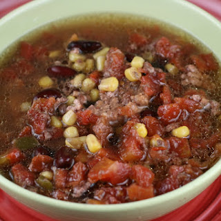 Zesty Burger Soup Slow Cooker