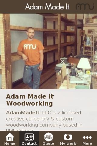 【免費商業App】Adam Made It Woodworking-APP點子