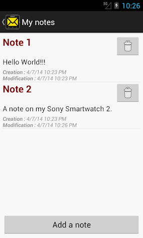 SMS&Notes for SmartWatch 2 Screenshot
