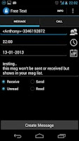 Screenshot of Fake SMS & Call