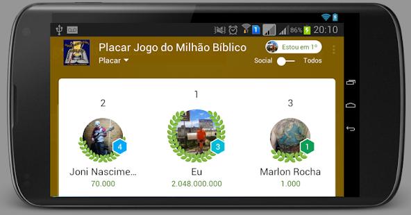Jogo do Milhão Bíblico - screenshot thumbnail
