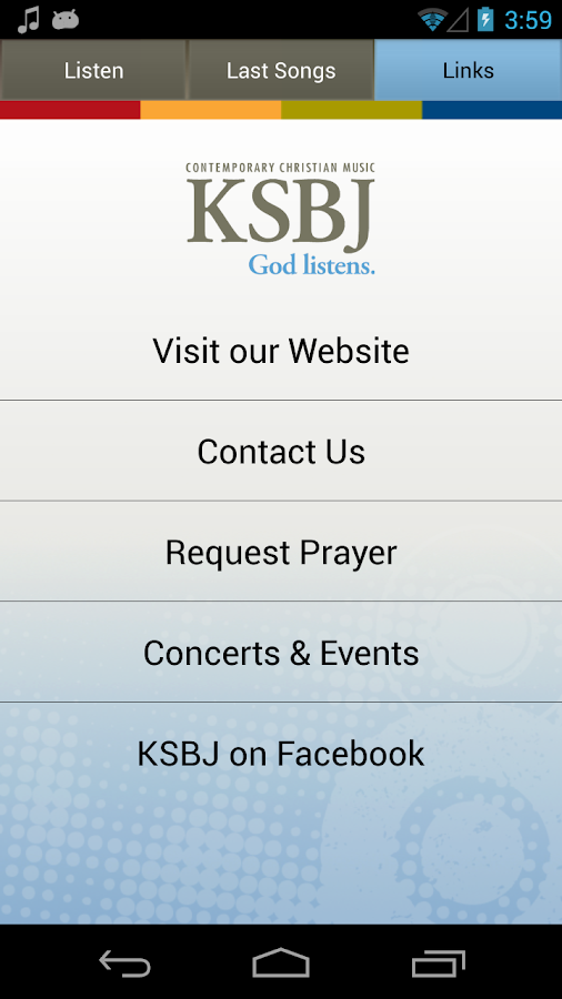 KSBJ – God listens. - screenshot