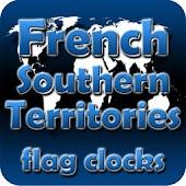 French S. Territ. flag clocks